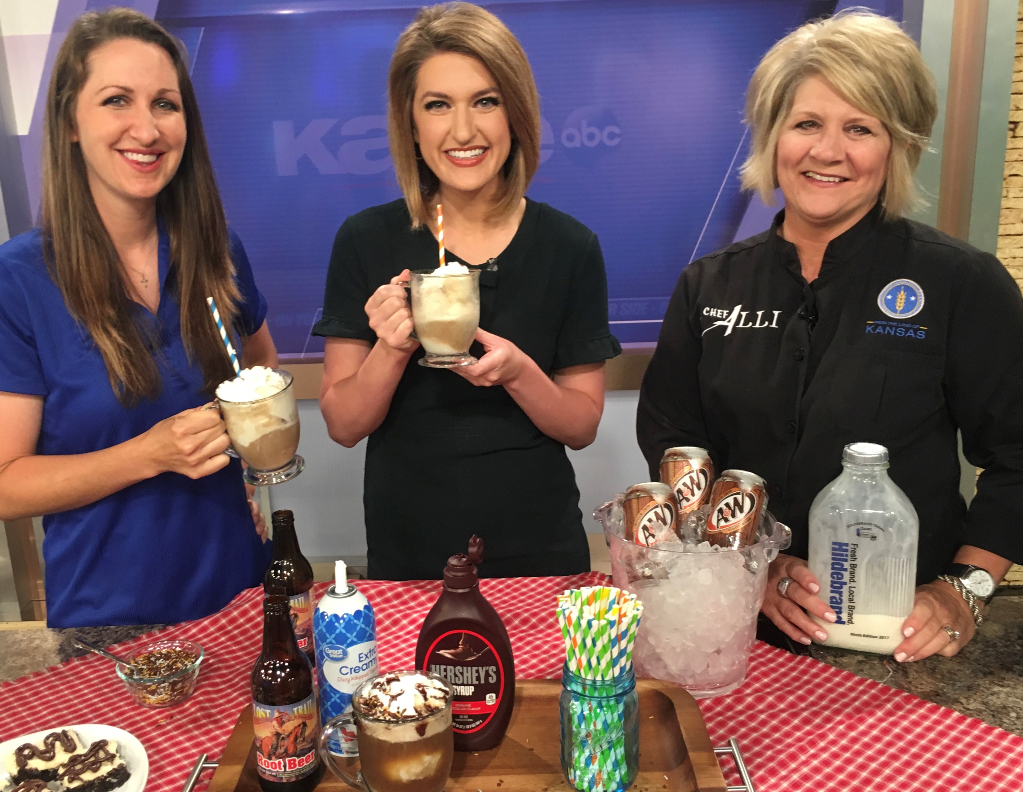 Root Beer Floats with Hildebrand Farms Dairy on KAKE News